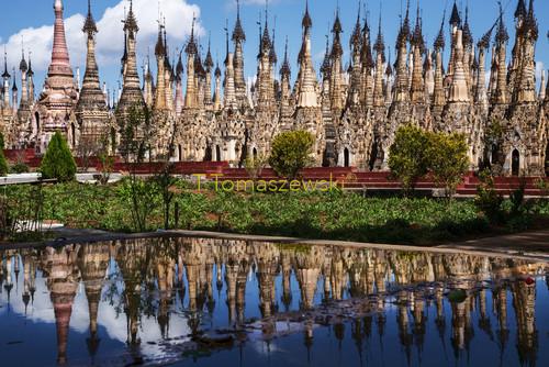 Świątynie w Birmie. Temples in Burma.
